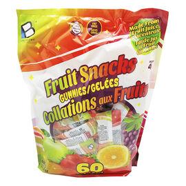 Brands Unlimited Fruit Snacks Gummies - 60 Pieces