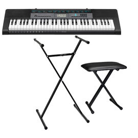Casio 61-Key Keyboard - CTK2550K3 + Casio Keyboard Bench + Casio Keyboard Stand - PKG #58400
