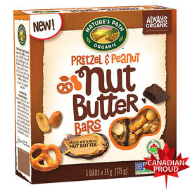 Nature's Path Organic Nut Butter Bar - Pretzel & Peanut - 5 Pack