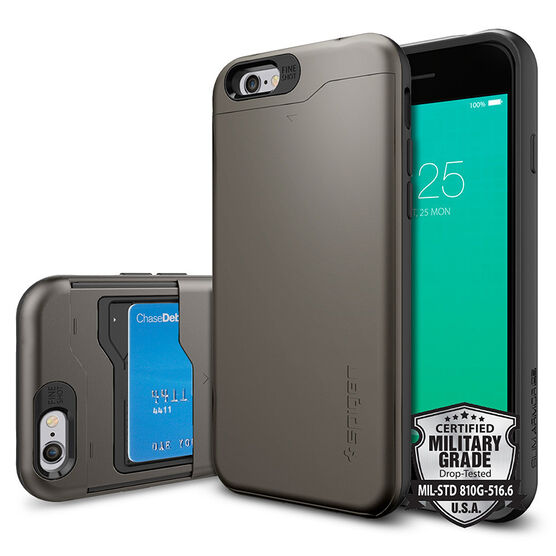 Spigen Slim Armor Case for iPhone 6/6s - Gunmetal - SGP10964