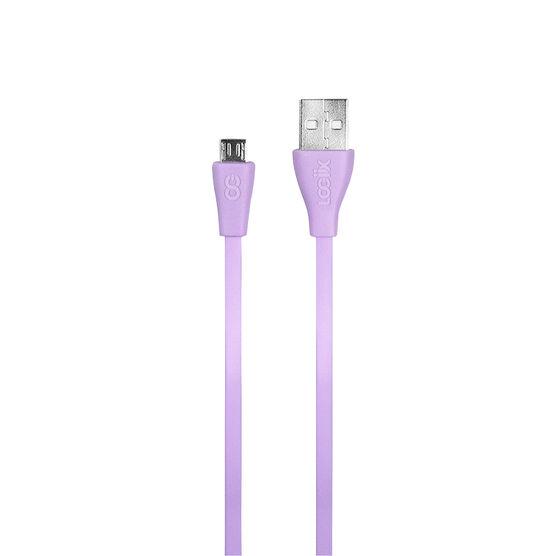 Logiix Flat Flex Micro USB Cable - Limited Edition - Lavender - LGX12213