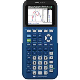TI 84 Plus CE Graphing Calculator - Blue - 84PLCE/TBL/2L1/S