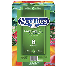 Scotties EnviroCare Facial Tissues - 6 x 140's