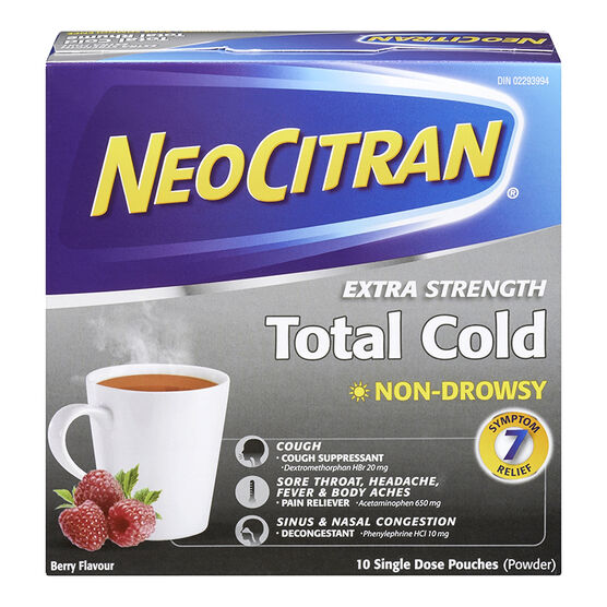 NeoCitran Total Cold Non-Drowsy - Berry - 10's