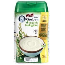 Gerber Organic Rice Cereal - 208g