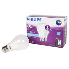 Philips Performance A19 LED Light Bulb - Daylight - 9W/3 pack