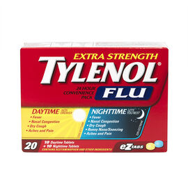 Tylenol* Flu 24 hour Convenience Pack - 10 + 10's