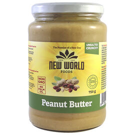 New World Peanut Butter - Crunchy - Unsalted - 750g