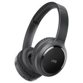 JVC Bluetooth Noise-Cancelling On-Ear Headphones - Black - HAS80BN