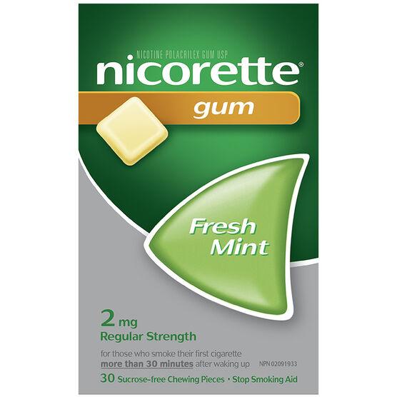 Nicorette Gum - Fresh Mint - 2mg - 30's