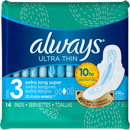Always Ultra Thin Pads Size 3 - Extra Long Super - 14's
