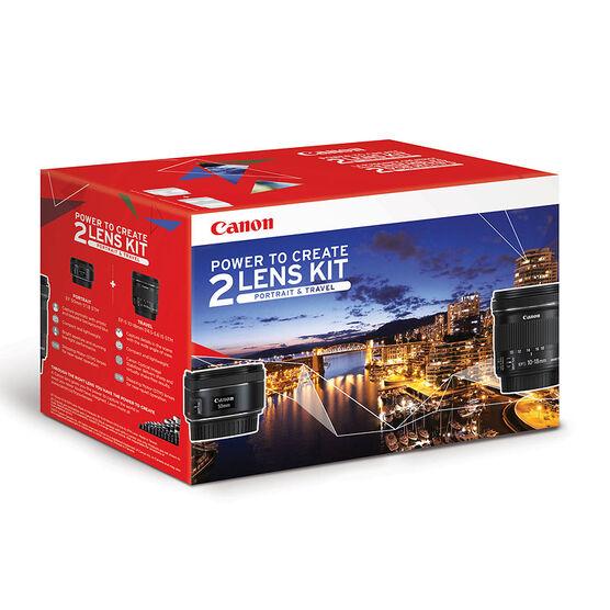 Canon EF 50mm F1.8 STM and EF-S 10-18mm  F4.5-5.6 IS STM Lens Kit - 0570C014