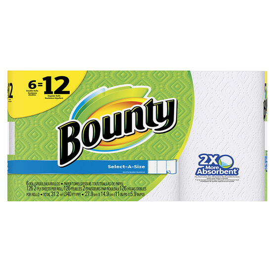 Bounty Towels Select-A-Size - 6 Double Roll