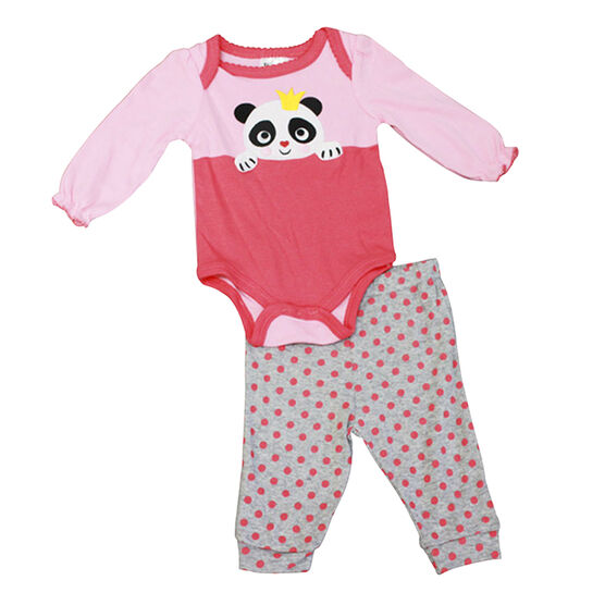 Baby Mode Princess Panda Onesie and Legging Set - 0-9 months - Assorted