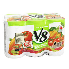 V8 Low Sodium Vegetable Cocktail - 6x156ml