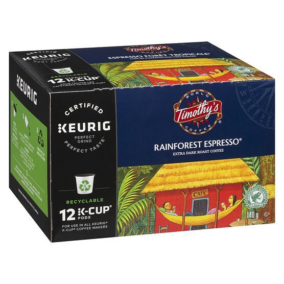 K-Cup Timothy's Coffee - Rainforest Espresso - 12 Servings