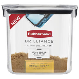 Rubbermaid Brilliance Pantry Canister - Brown Sugar - 7.8 cup