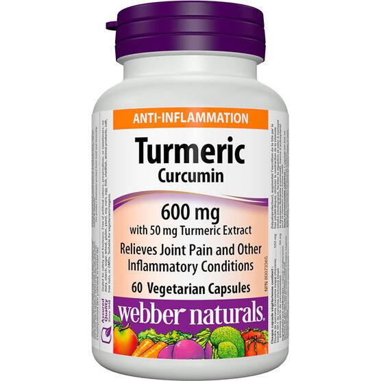 Webber Naturals Turmeric Curcumin - 600mg/50mg - 60's