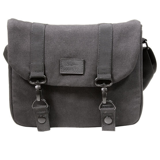 Roots 73 Flannel Collection Messenger Bag - Black - RB20