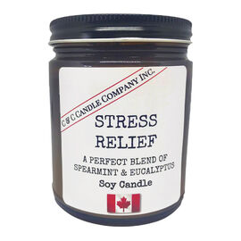 Cozy Candle Soy Candle - Stress Relief - 9oz