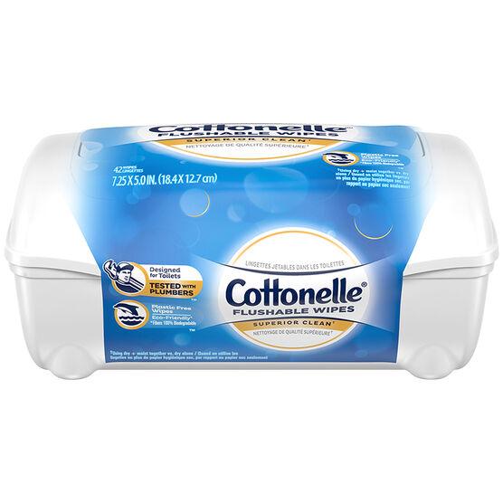 Cottonelle Fresh Flushable Moist Wipes - 42's