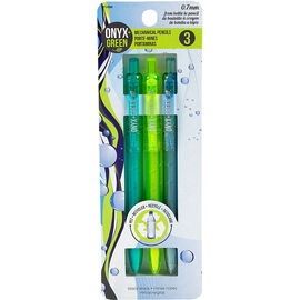 Onyx + Green 0.7mm Mechanical Pencils - 3 pack