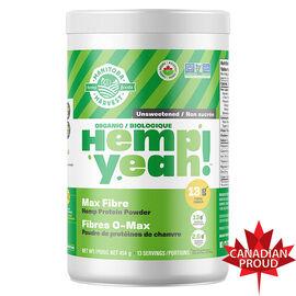 Manitoba Harvest Hemp Yeah Max Fibre Hemp Protein Powder - Unsweentened - 454g