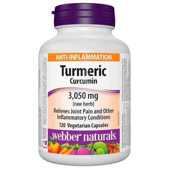 Webber Naturals Turmeric Curcumin - 600mg/50mg - 120's