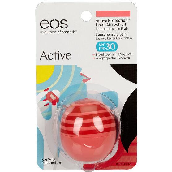 eos Active Sunscreen Lip Balm SPF30 - Fresh Grapefruit - 7g