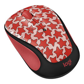 Logitech M325c Doodle Collection Wireless Mouse -Cosmos Coral - 910-005029