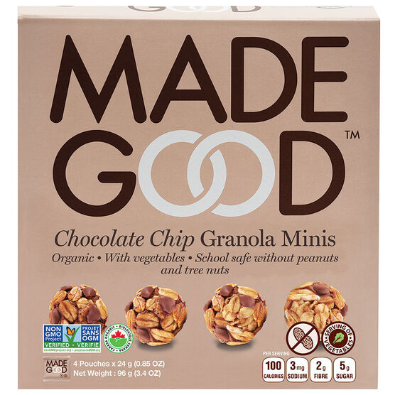Made Good Granola Mini's - Chocolate Chip - 4 Pack