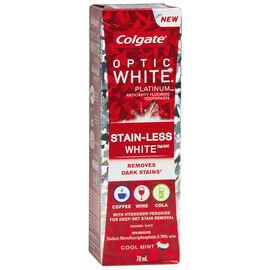 Colgate Optic White Platinum Stain-Less White Toothpaste - Cool Mint - 70ml