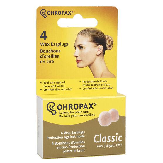 Ohropax Wax Ear Plugs - 4 pack