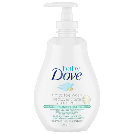 Baby Dove Sensitive Moisture Tip to Toe Baby Wash - 384ml