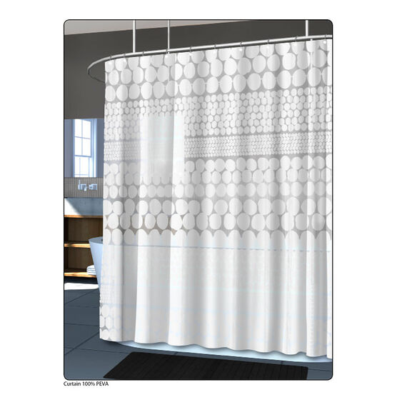 Splash Vinyl Shower Curtain - Chunk