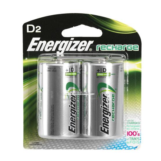 Energizer NH 50BP-2 - Battery - Rechargeable - D - NiMH x 2 - 2200 mAh