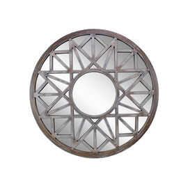 Kiera Grace Round Mirror - Distressed - 20in