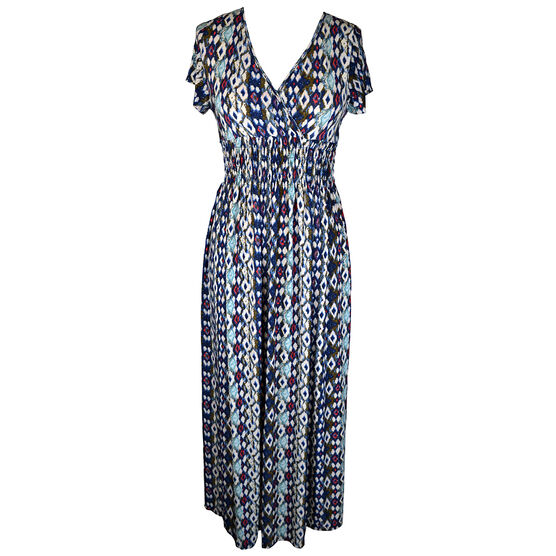Lava Short Sleeve Maxi Dress with Print