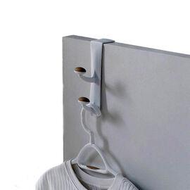 Non-Slip Over The Door Double Hook - White/Tan