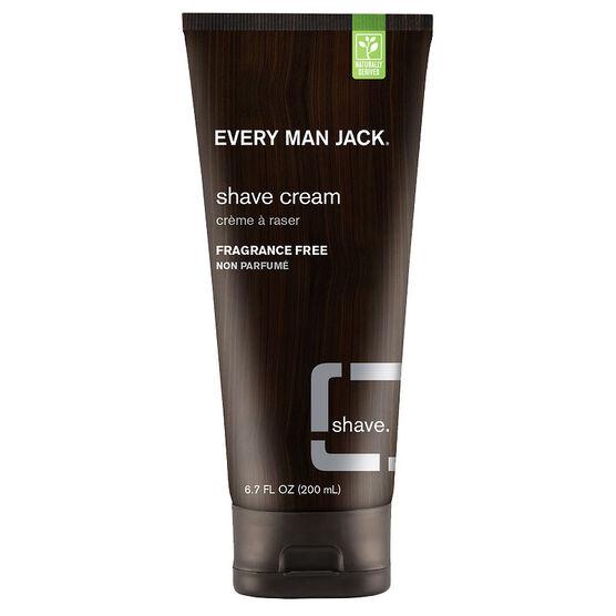 Every Man Jack Shave Cream - Fragrance Free - 200ml