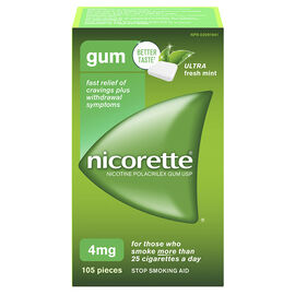 Nicorette Gum - Ultra Fresh Mint - 4mg - 105's