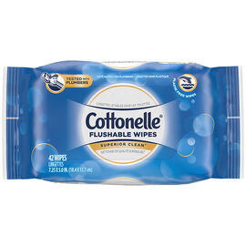 Cottonelle Fresh Flushable Moist Wipes - Refill - 42's