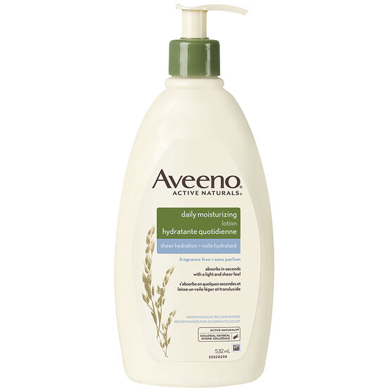 Aveeno Active Naturals Daily Moisturizing Sheer Hydration - Fragrance Free - 532ml
