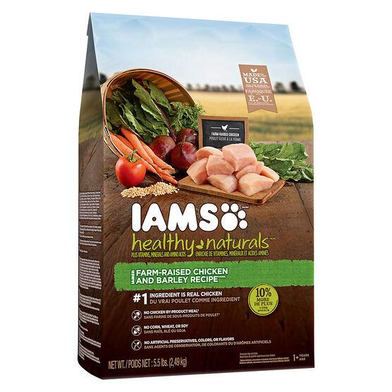 IAMS Healthy Naturals Adult Dry Dog Food -  Chicken/Barley - 2.49kg