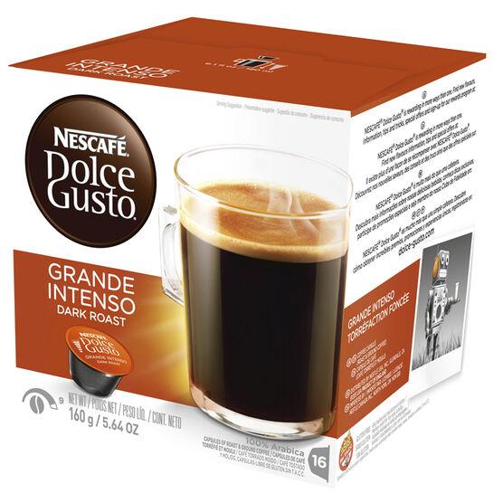 Nescafe Dolce Gusto Coffee Pods - Dark Roast Caffe Grande - 16's