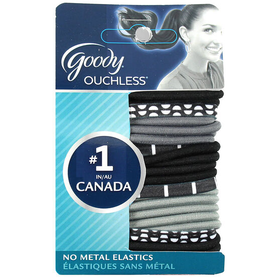 Goody Ouchless Elastics - Black and White Mod - 24's