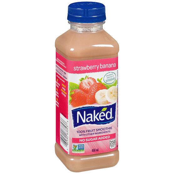Naked Pure Fruit Juice - Strawberry Banana - 450ml