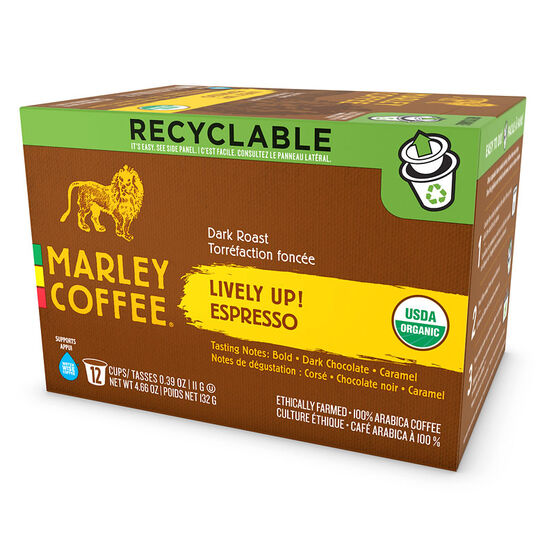Marley's Single Serve Pods - Lively Up - 12 pack
