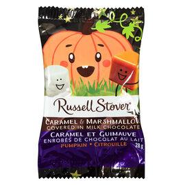 Russell Stover Milk Chocolate Caramel Marshmellow Pumpkin - 28g