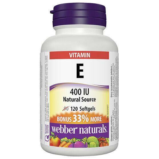Webber Natural's Vitamin E 400IU - 90's